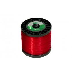 Fio de Nylon 2,4 mm 388 metros (redondo) Vermelha